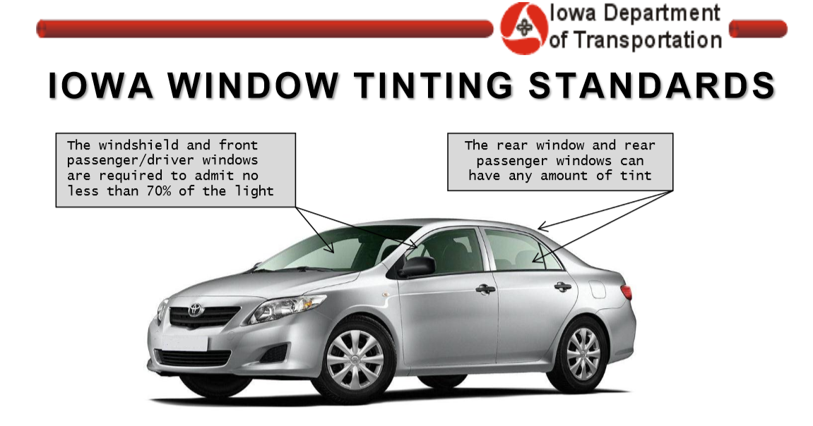 iowa window tint laws and legal limit indianola window tint. Black Bedroom Furniture Sets. Home Design Ideas
